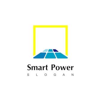 Modelo de design de logotipo de painel solar