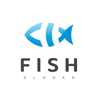 Modelo de design de logotipo de peixe