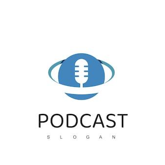 Modelo de design de logotipo de podcast