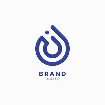 Modelo de design de logotipo de queda