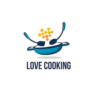 Modelo de design de logotipo de restaurante