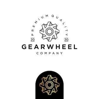 Modelo de design de logotipo de roda de engrenagem
