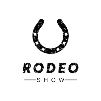 Modelo de design de logotipo de rodeio
