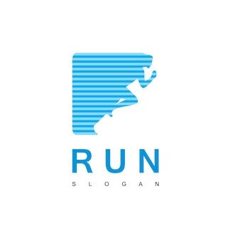 Modelo de design de logotipo de runa de pessoas