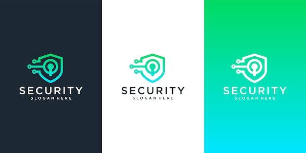 Modelo de design de logotipo de segurança