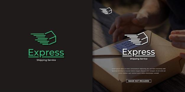 Modelo de design de logotipo de serviço expresso de logística de serviço de entrega