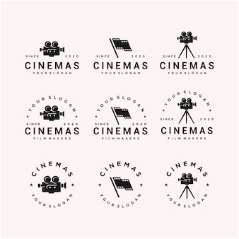 Modelo de design de logotipo de símbolo de filme de cinema
