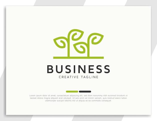 Modelo de design de logotipo de símbolo de planta de agricultura