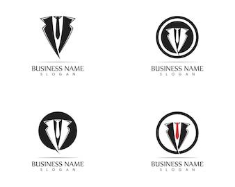 Modelo de design de logotipo de smoking