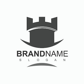 Modelo de design de logotipo de strong castle