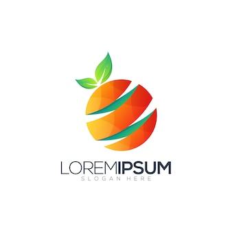 Modelo de design de logotipo de suco de círculo