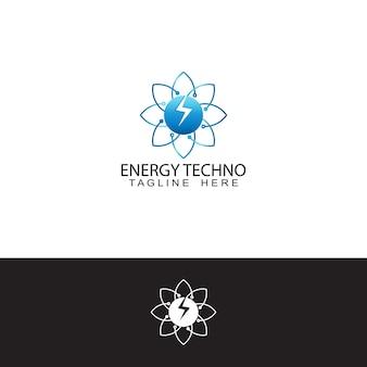 Modelo de design de logotipo de tecnologia de energia