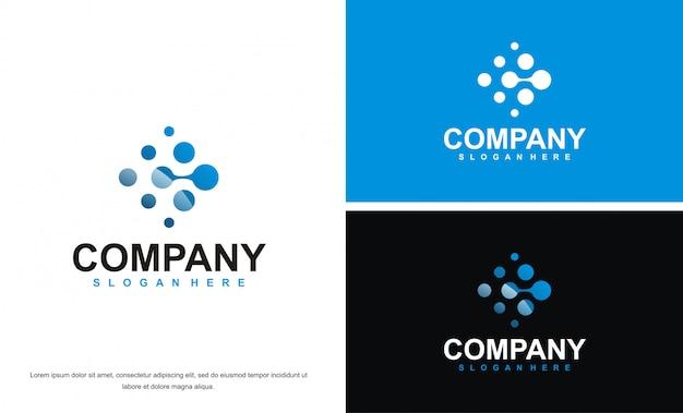 Modelo de design de logotipo de tecnologia moderna
