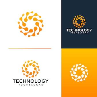 Modelo de design de logotipo de tecnologia