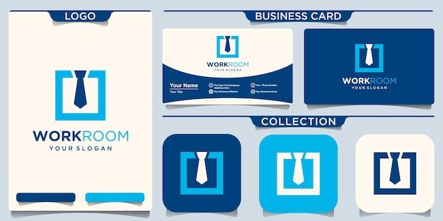 Modelo de design de logotipo de trabalho. ilustração de consultoria de trabalho.