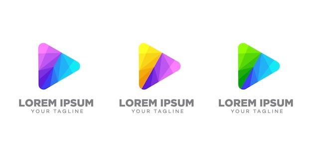 Modelo de design de logotipo de triângulo