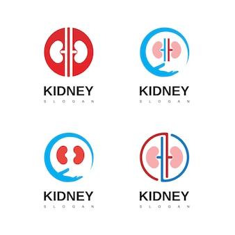 Modelo de design de logotipo de urologia do logotipo do rim