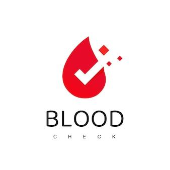 Modelo de design de logotipo de verificação de sangue