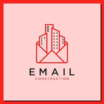 Modelo de design de logotipo de vetor de construção de e-mail