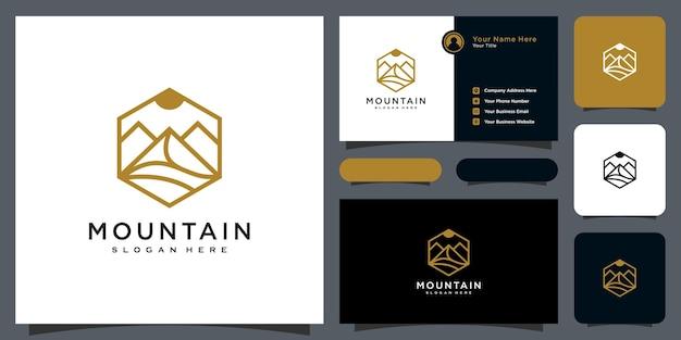 Modelo de design de logotipo de vetor de montanha