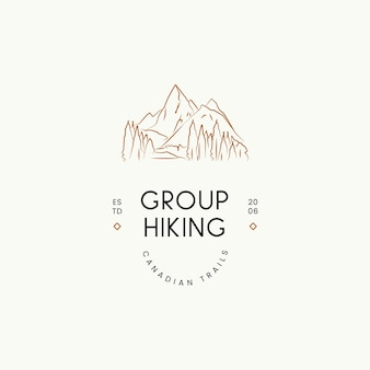 Modelo de design de logotipo de vetor de viagens mínimo para fotógrafos de blogueiros de viagens de agências de viagens