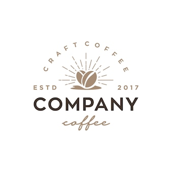Modelo de design de logotipo de vetor vintage / retrô café