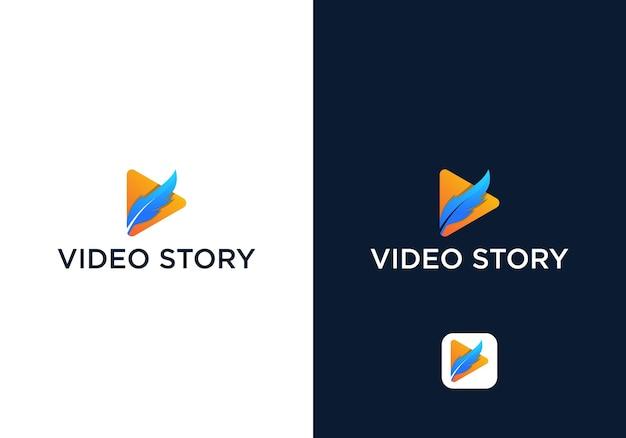 Modelo de design de logotipo de vídeo de história