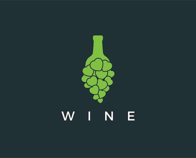 Modelo de design de logotipo de vinho