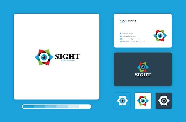 Modelo de design de logotipo de visão