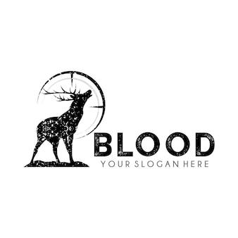 Modelo de design de logotipo deer hunter