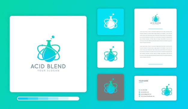 Modelo de design de logotipo do acid blend