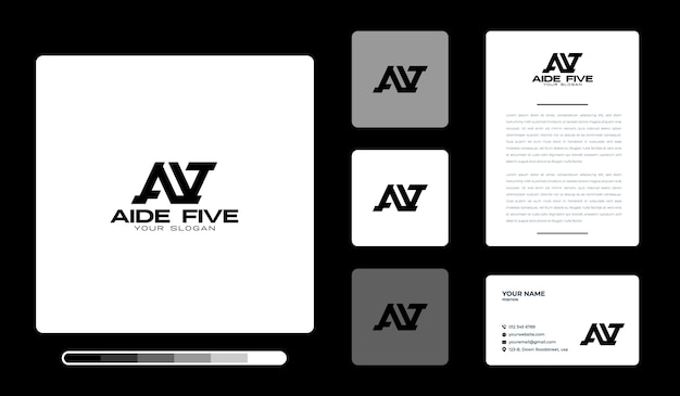 Modelo de design de logotipo do assessor five