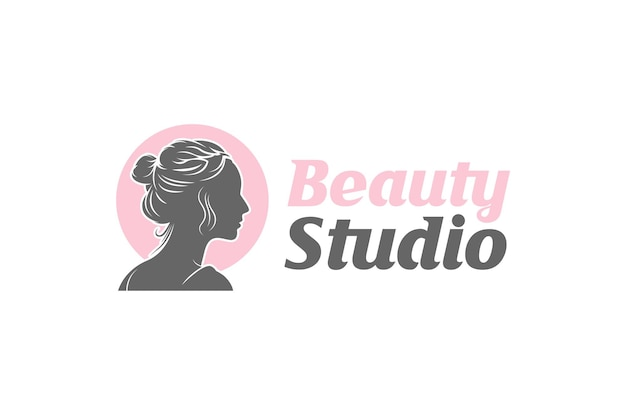 Modelo de design de logotipo do beauty studio