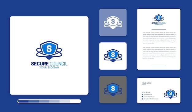 Modelo de design de logotipo do conselho seguro