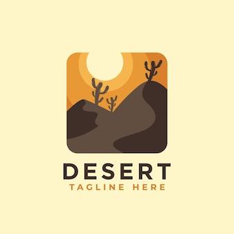 Modelo de design de logotipo do deserto