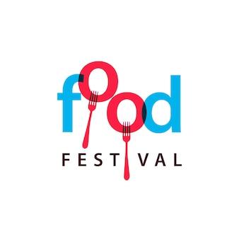 Modelo de design de logotipo do festival de comida
