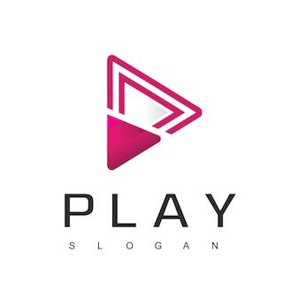 Modelo de design de logotipo do media player