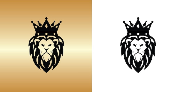 Modelo de design de logotipo do rei leão