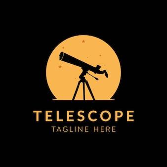 Modelo de design de logotipo do telescópio