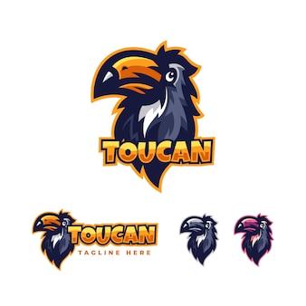 Modelo de design de logotipo do toucan pack