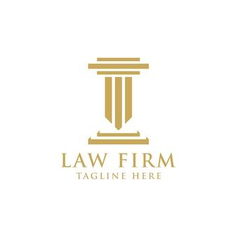 Modelo de design de logotipo dourado de escritório de advocacia