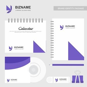 Modelo de design de logotipo e caderno de y