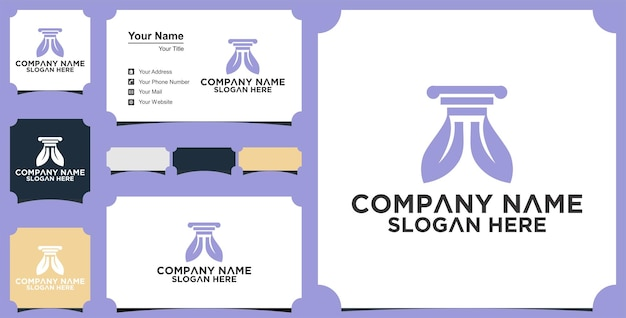 Modelo de design de logotipo e cartão de visita da nature law firm