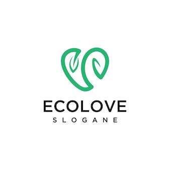 Modelo de design de logotipo ecolove