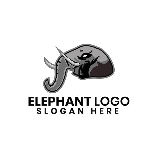 Modelo de design de logotipo elefante