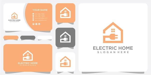 Modelo de design de logotipo elétrico em casa. design de logotipo em casa. design de logotipo elétrico