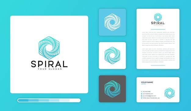 Modelo de design de logotipo em espiral