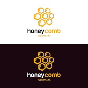 Modelo de design de logotipo em favo de mel