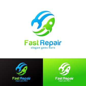 Modelo de design de logotipo fast repair