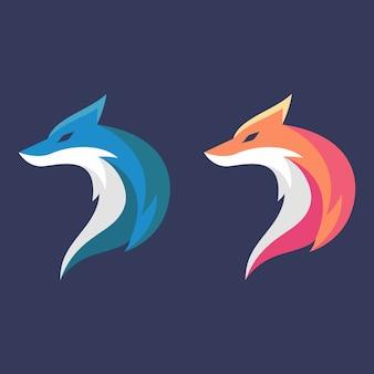 Modelo de design de logotipo fox